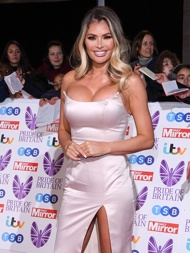 Pride Of Britain Awards 2018 Towie Star Chloe Sims Puts On Very Busty Display In Skintight Dress