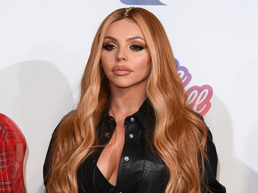Jesy Nelson WOWS in plunging red top as she's kicked out of taxi during wild night out