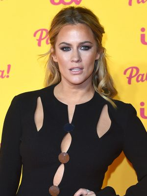 Caroline Flack poses TOPLESS for seriously sizzling snap during late-night skinny-dip