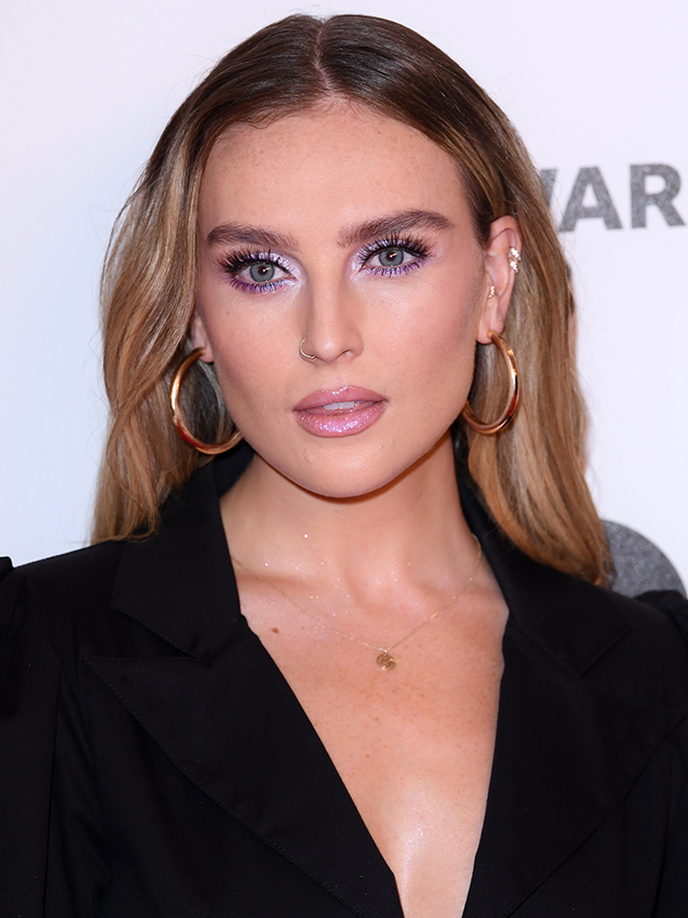 perrie edwards wows with new look as she flashes cleavage