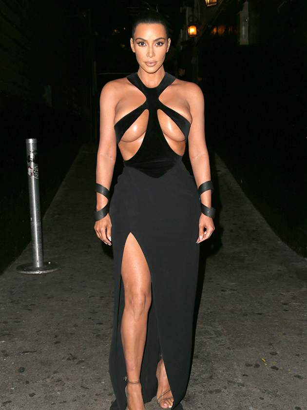 Kim Kardashian SHOCKS fans as she risks wardrobe malfunction with nearly-naked dress: 'That's dangerous!'