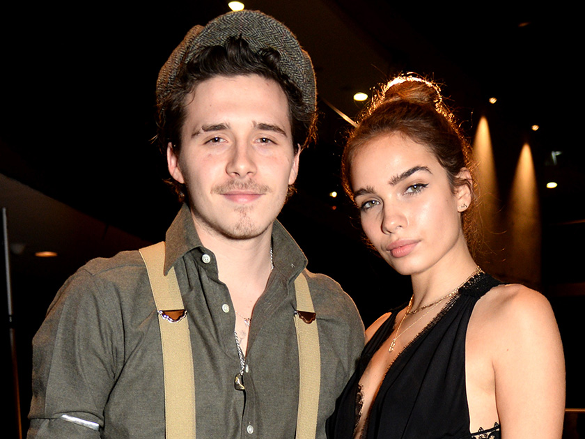Brooklyn Beckham and girlfriend Hana Cross snub 'bust up' claims as they cosy up for intimate gym selfie