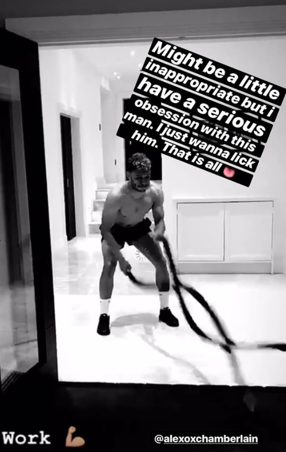 Perrie Edward's post about Alex Oxlade-Chamberlain