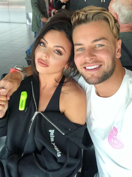 Jesy Nelson and Chris Hughes
