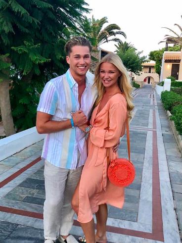 AJ Pritchard and stunning girlfriend go Instagram official on romantic Greek getaway