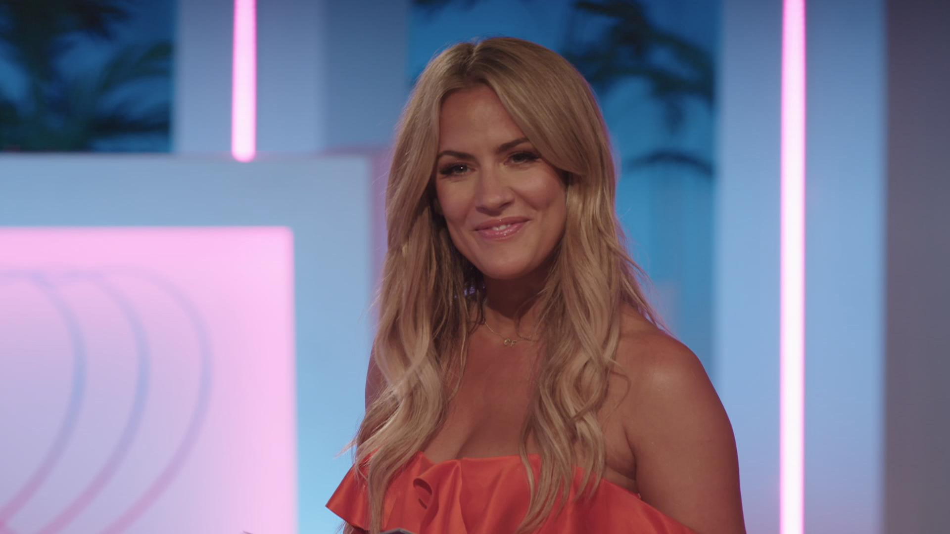Caroline Flack blanks Love Island's Francesca's attempt to hug her in awkward Aftersun interview after she branded her a 'dirty peado'