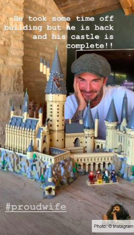 Victoria Beckham is a 'proud wife' after David FINALLY completes £350 Hogwarts Castle for Harry Potter obsessed Harper