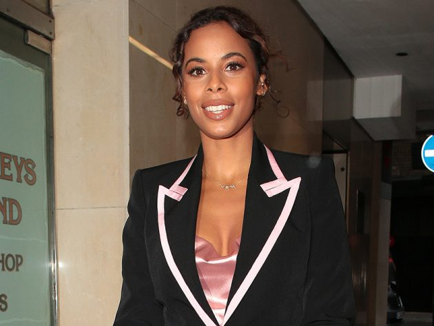 Fans in hysterics as Rochelle Humes shares video of brolly being blown away