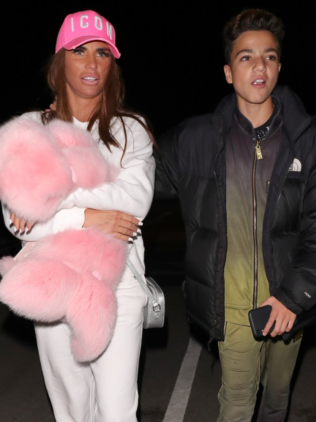 Katie Price's son Junior too 'embarrassed' to go home to mucky mansion
