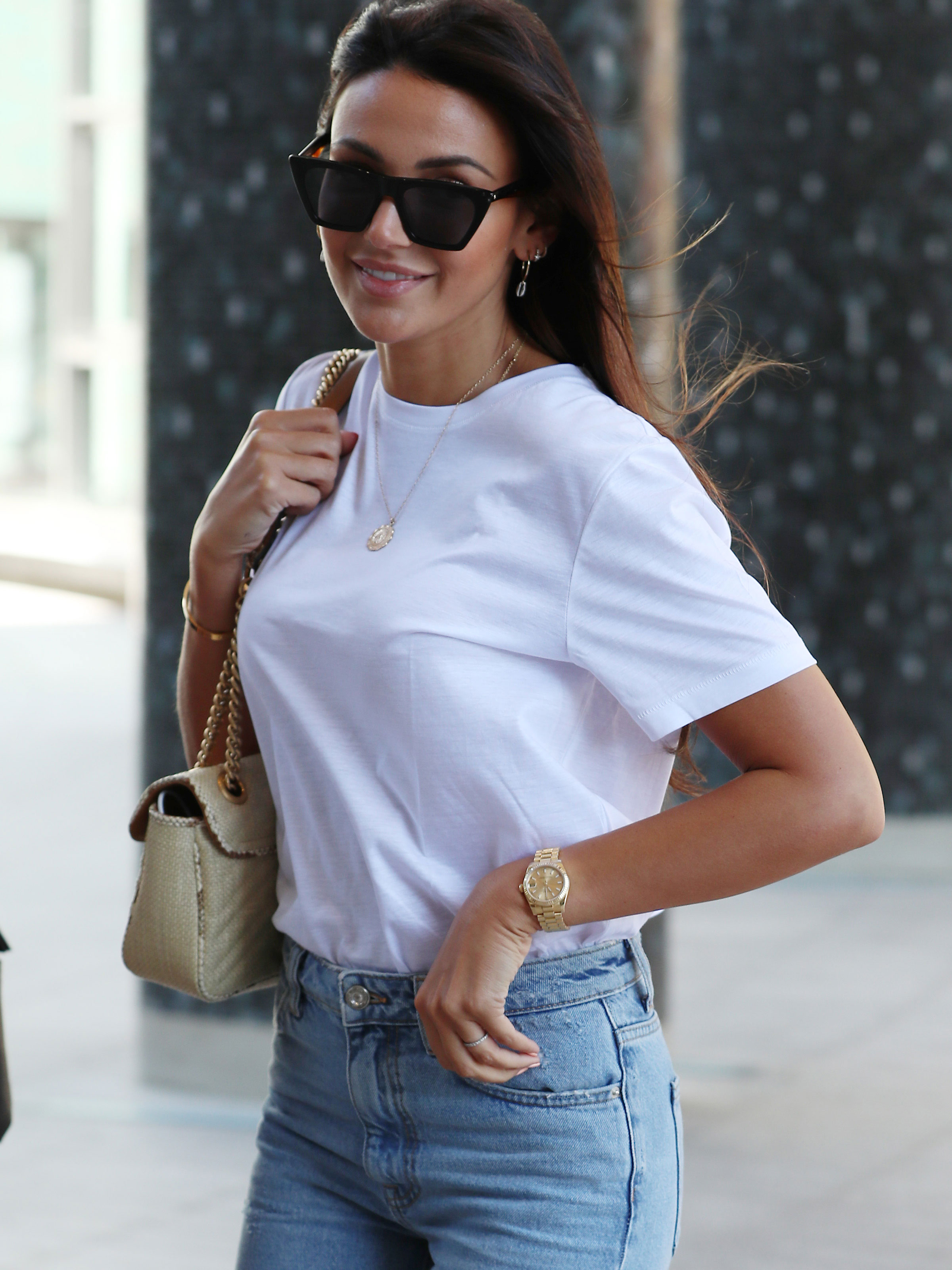 Michelle Keegan stuns as she collects fast food but fans hate her order