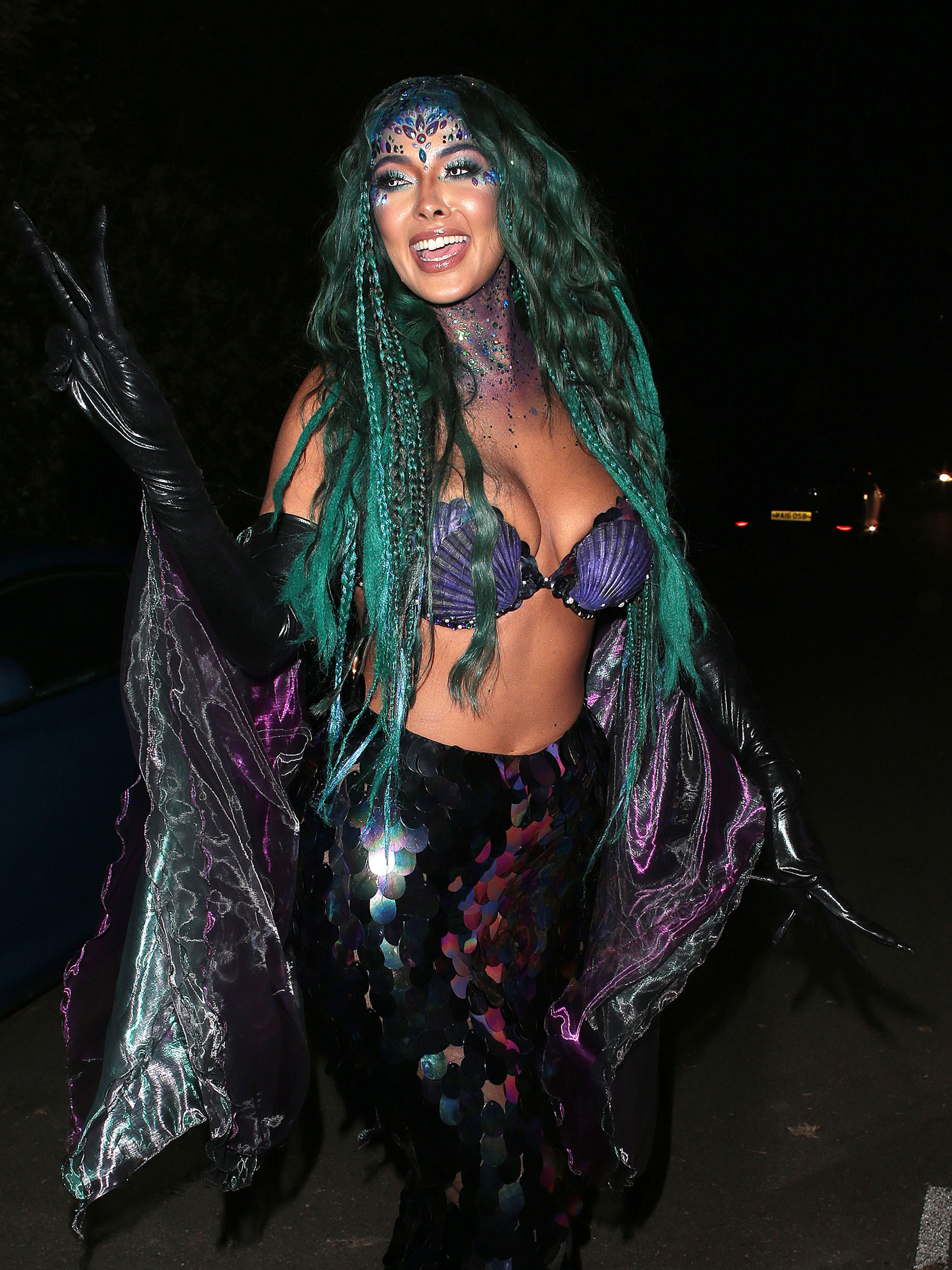 Maya Jama turns up to work in sexy costume after Halloween night out