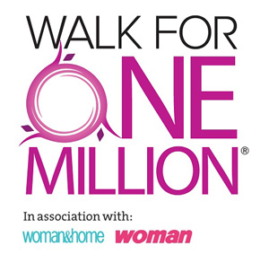 Walk For One Million logo with Woman