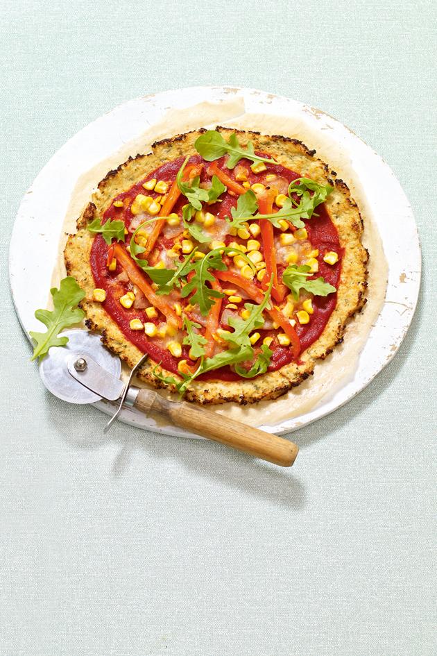 Low Calorie Cauliflower Pizza 227 Calories Per Serving