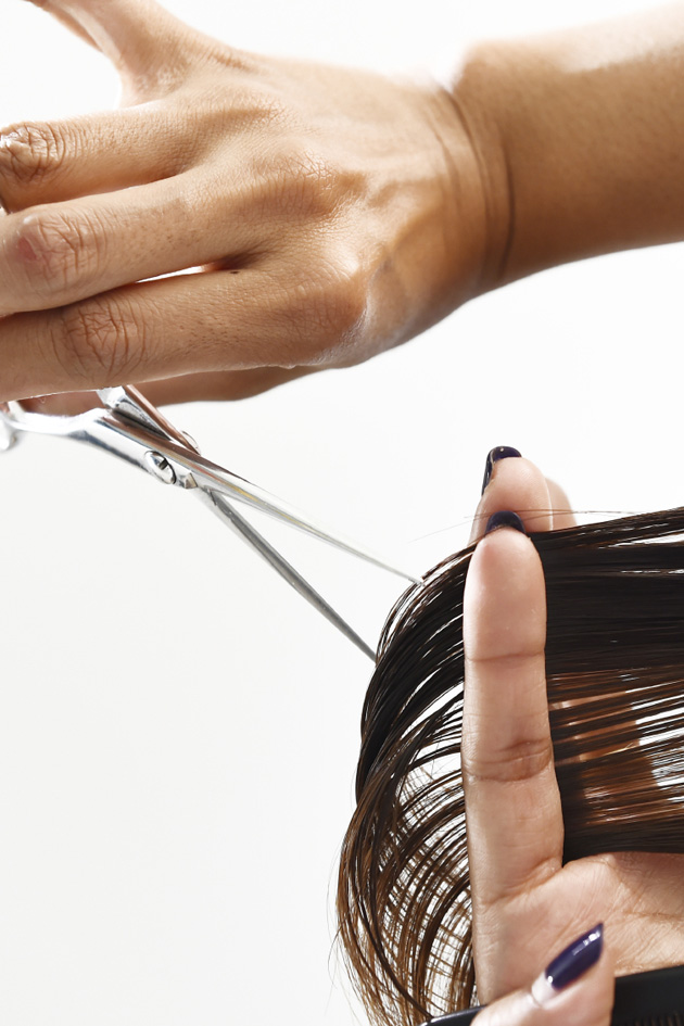 how to cut your own long hair at home
