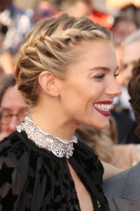 f028c5da247aa Try a French plait up  do like Sienna. You ve got the perfect hair texture  for this look – and the braid will help to add a little bulk to your ...
