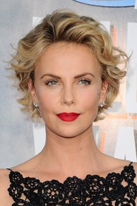 Charlize Theronu0027s Been Growing Out Her Short Crop Into This Slightly Longer  And Feminine Bob. This Finish Is Classy And Elegant U2013 Just Add A Flash Of  Red ...