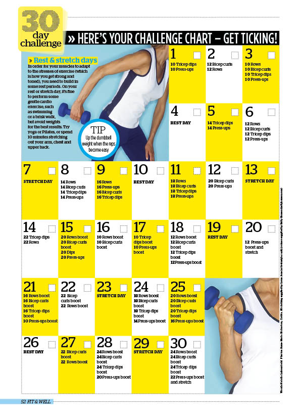 30 day challenge: banish bingo wings for good - Woman Magazine