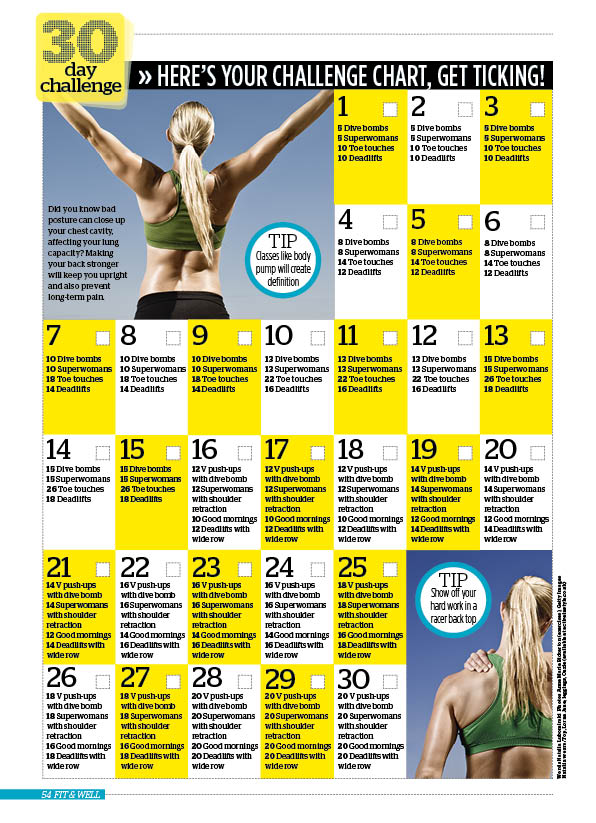 30 Day Challenge Stronger Back Woman Magazine