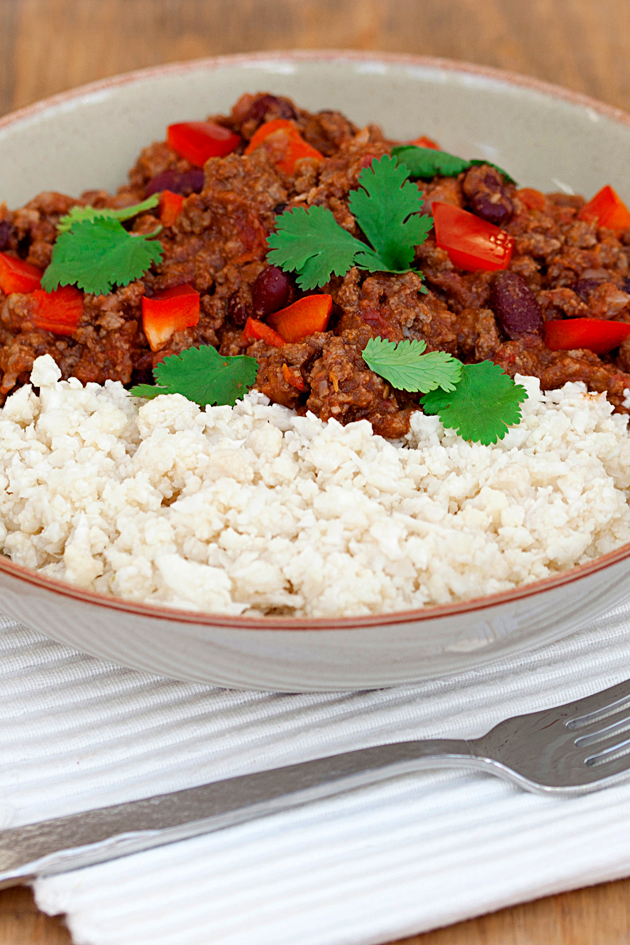 Slimming World chilli and cauliflower rice recipe