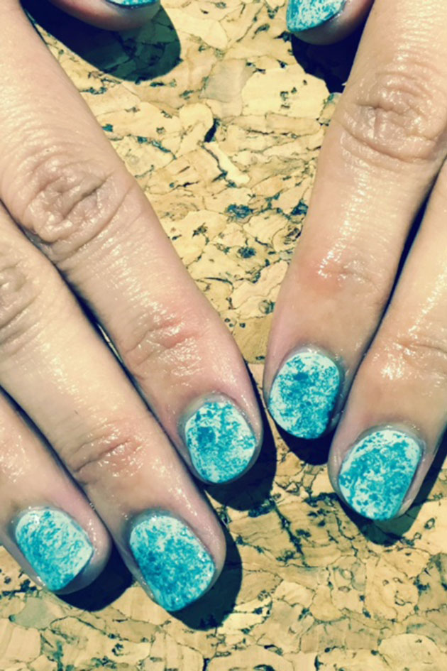 The easiest ever cling-film nail art technique - Woman Magazine