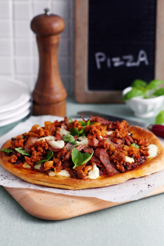 Home Made Meat Feast Pizza Woman Magazine