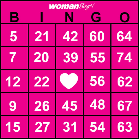 graphic regarding Free Printable Bingo Cards With Numbers identified as Lady Bingo Totally free Printable Bingo Playing cards