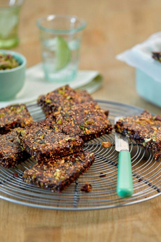 pistachio and quinoa bites