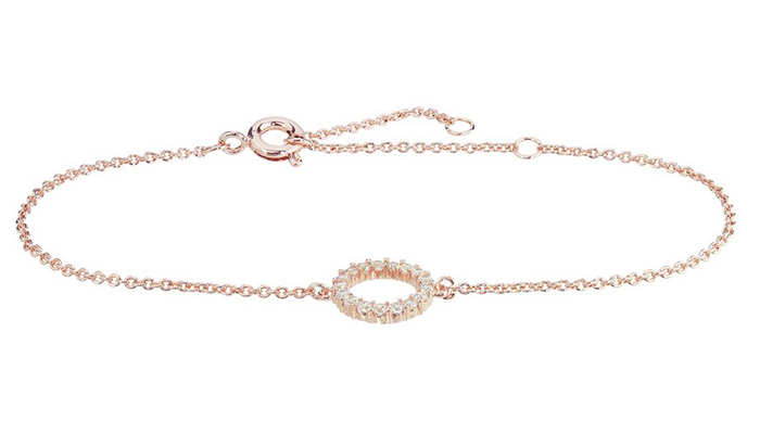 The Rose Gold Colour Cz Circle Drop Earrings Would Make A Great Addition To An Evening Outfit And Match Quite Nicely With Bracelet