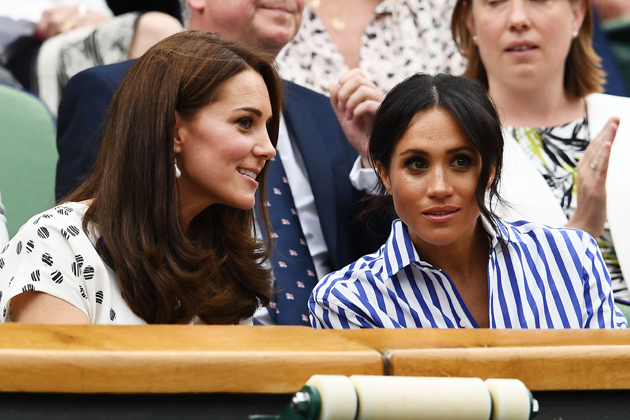 Meghan Markle Kate Middleton Wimbledon 2018