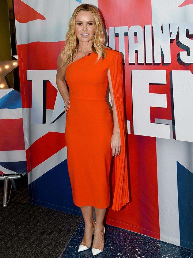Amanda Holden Attends Britain S Got Talent Auditions In Orange Dress