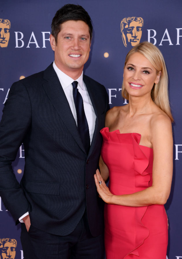 Trouble in paradise? Tess Daly and Vernon Kay appear 'rigid' as they make rare red carpet appearance