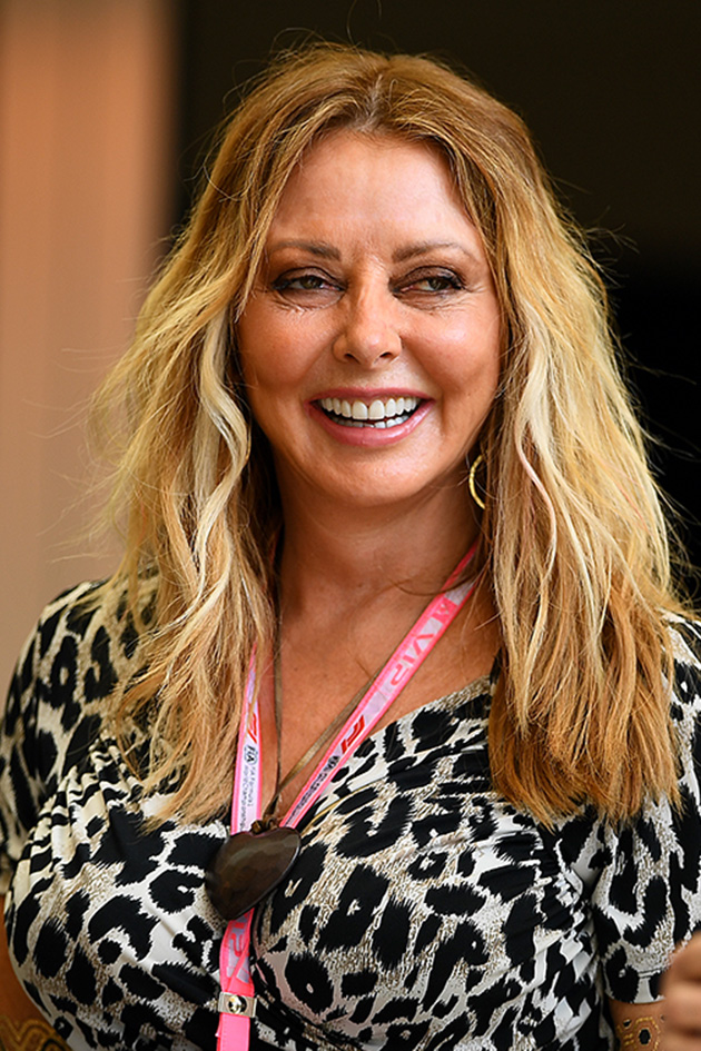 6dc3e666 Carol Vorderman shows off sensational curves in tight leopard print ...