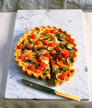Quick & easy recipes: Roasted vegetable and pesto tart - Food