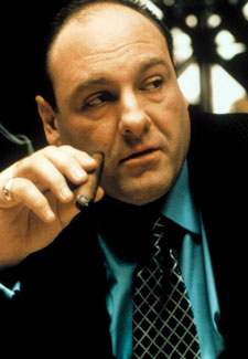 James Gandolfini as Tony in The Sopranos