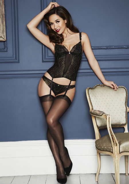 Myleene Klass Festive Lingerie For Littlewoods