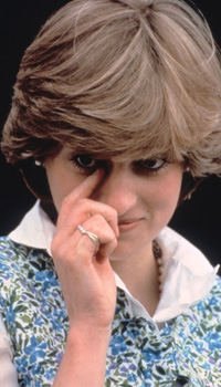 Princess Diana cries in public while watching Prince Charles playing polo in Tidworth. Diana was upset by overzealous photographers