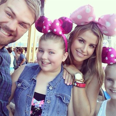 The Had No Children Together But Vogue Was Close To Brian S Two Daughters Molly And Lily Sue From His Previous Marriage Kerry Katona