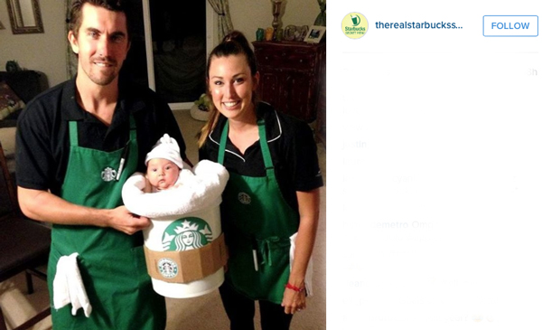 starbucks baby - Halloween Costumes For Parents And Baby