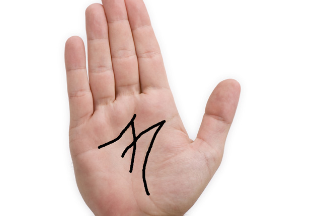 Do you have the letter M on your palm?   Woman's own