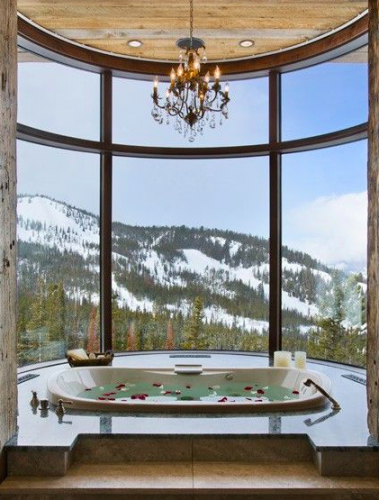 bathtub and mountains - Amazing Bathrooms