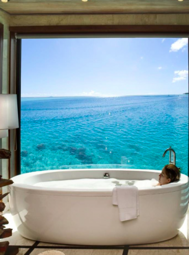 Luxury Bathtub And View In Europe