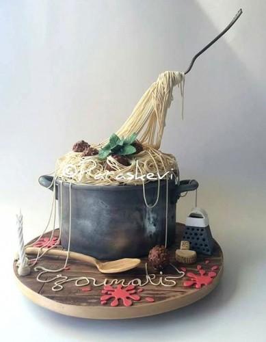 Happy Birthday Cake Guns Golden
