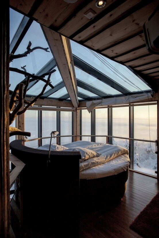 imagine being snug under those covers with all the snow outside