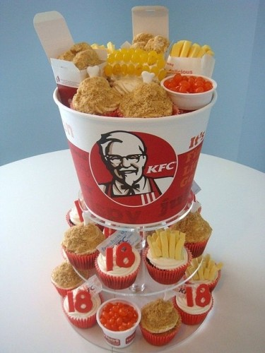 weirdly realistic cakes that look like fast food