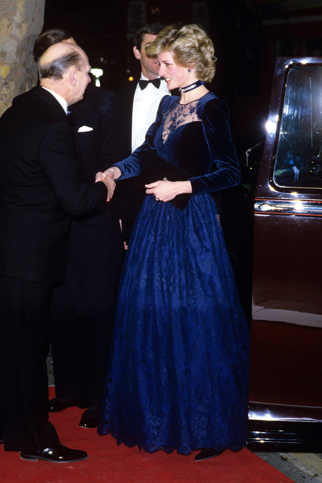 Princess Diana At The Onward And Upward Play Charity