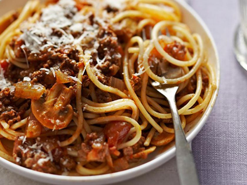 Beef and veg spaghetti Bolognese