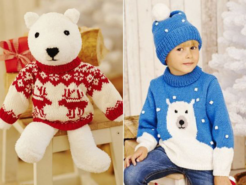Polar bear knitting patterns to download today