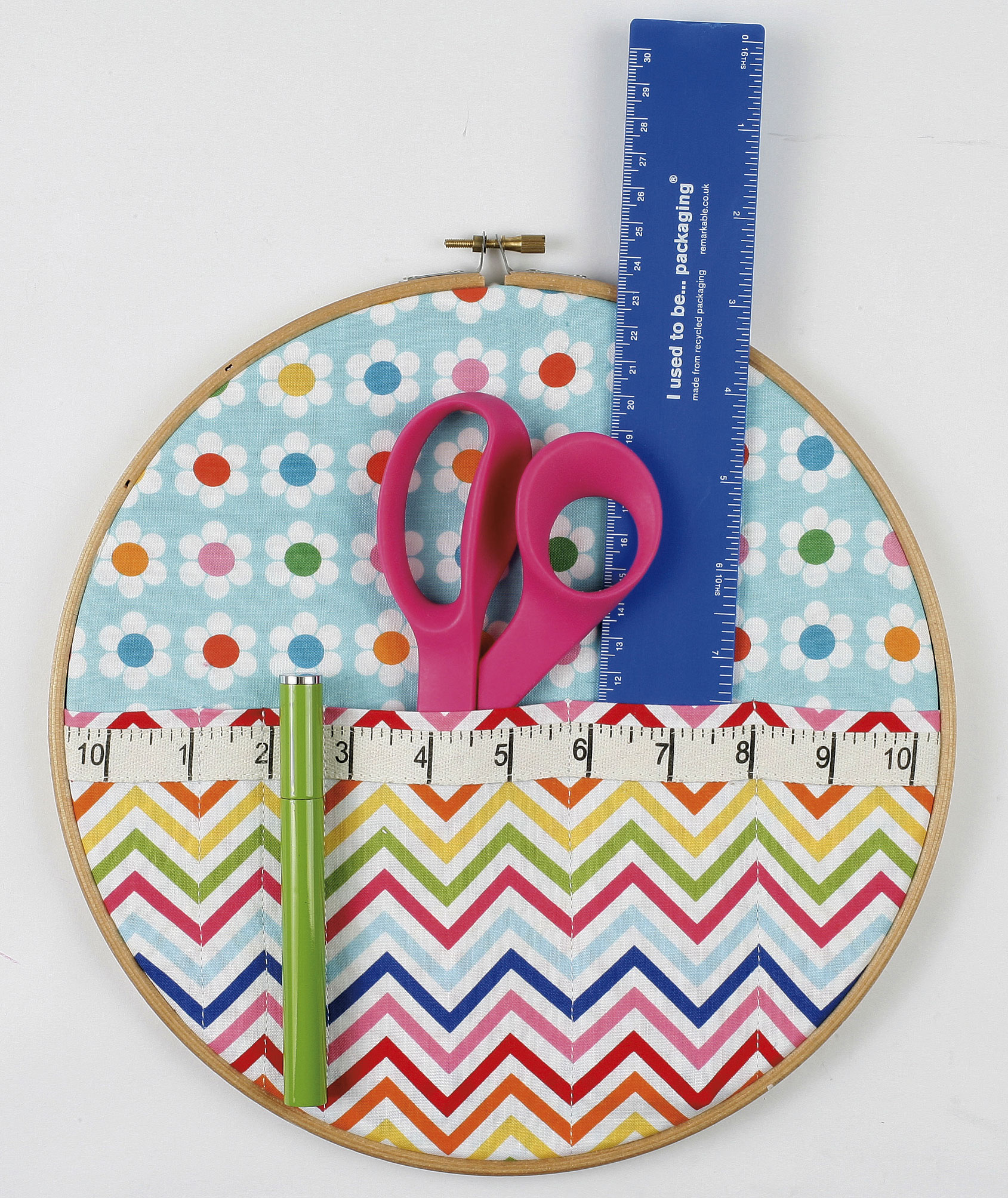 Embroidery hoop storage pockets tutorial sew delicious