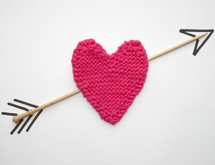 Knitting Heart Pattern : Knitted heart pattern woman s weekly