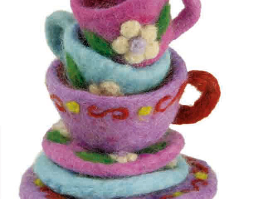 How To: Make A Cup And Saucer Using Needle Felting